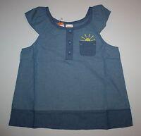 NEW Gymboree Girls Chambray Sun in Shirt Pocket Top NWT 7 Pocketful of Sunshine