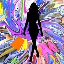 Pintura Original Gran Splash Arte inversión comercial Terapia Moderno Mujer Chica