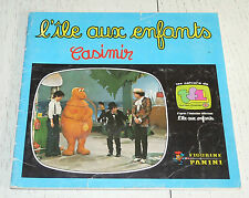 ALBUM PANINI ILE AUX ENFANTS 1976 INCOMPLET EMISSION TV 132 STICKERS TF1 CASIMIR