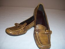 """Life Stride """"Trigger"""" Womens Size 9 M Croc Goldish Brown Loafers"""