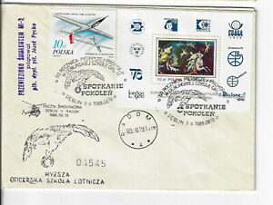 Poland, Aerospace cover. 1988 60th anniv. of flying generations.cxls (PA39A)