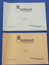 ELKA Kimball Pianos & Organs Schematic Diagrams and Spare Parts Catalogue EP 8
