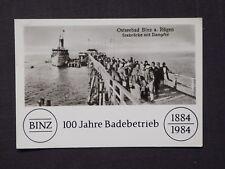 Ansichtskarte Ostseebad Binz auf Rügen, 100 Jahre Badebetrieb 1884 - 1984
