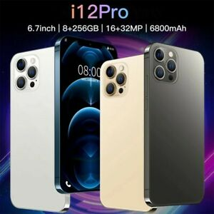 2021 I12 Pro Max Android 10.0 Smartphone 8 GB 256 GB 16MP+32MP 6.7inch
