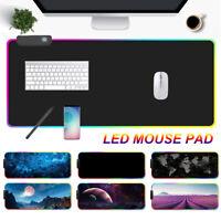 Extra Large Computer Desk Laptop RGB Gaming Keyboard Mice Mat Mouse Pad