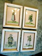 4 Vintage Framed German Tradespeople Print