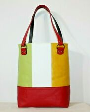 Women tote bag genuine leather DOUBLE FACE 8 color red Italian handmade moda