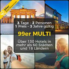 99er MULTI HOTELGUTSCHEIN 3 Tage 2 Pers ÜBER 130 HOTELS - BERLIN HAMBURG MÜNCHEN