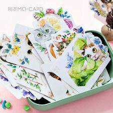 lot 30 Pcs Japanese Cat Postcards Set flower Beautiful Cards