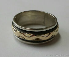 ESTATE M.M. ROGERS 14K AND STERLING SILVER RING ($550)
