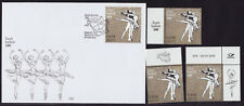 Estonia 2018 MNH - FDC - Estonian Ballet 100 years -FDC and 3 stamps with labels