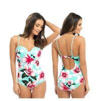 Ladies Swimming Costume Bathing Swimsuit Skirted One Piece Trikini size 10 - 24