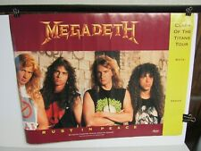 Vintage Megadeth Capital Records Double Sided Promo Poster (Dave Mustaine)