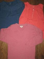 huge lot womens large XL shirts tops EUC sweater Van Heusen 100% cotton