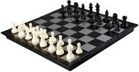 "AMEROUS 12"" x 12"" Travel Magnetic International Chess Set with Folding Chess"