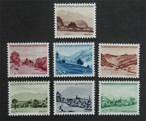 nystamps Liechtenstein Stamp # 205-211 Mint OG NH Paid $53 XF   L30y802