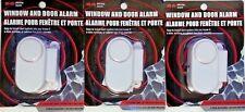 WINDOW AND DOOR ALARM 90 db cabinet cupboard SELF ADHESIVE - ON/OFF SWITCH x3