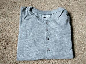 Mens Asos Long Sleeve Grandad Collar Tee Shirt.