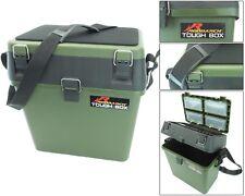 Fishing Seat Box & Tackle Box. Padded Strap & Seat Pad RODDARCH TOUGH BOX Brand