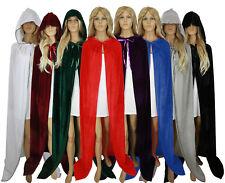 Halloween Hooded Cloak Wedding Cape Wicca Medieval LARP LOTR Velvet Size S-XXL