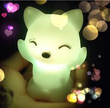 7 Colors Changing LED Night Light Small Fox Light Lamp XE US Room Decor
