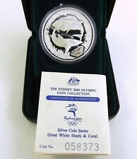 2000 SYDNEY OLYMPIC Shark & Coral 1oz Silver Proof Coin