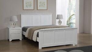 Mali King Size Bed White