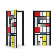 Mondrian Abstract Art Vinyl Sticker for Door / DoorWrap / Door Skin / Door St...