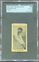 1927 E210 YORK CARAMELS #7 BOB MEUSEL TYPE 1 - NEW YORK YANKEES SGC 35 GOOD+ 2.5