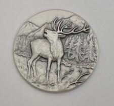 Red Deer 2015 Niue .999 Fine Silver Antique Finish, Ultra High Relief