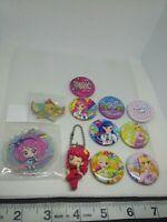 11pc Aikatsu figure keychain strap charm pin badge button anime kawaii Japan lot