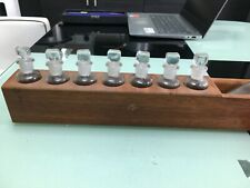 More details for vintage apothecary glass medicine bottles with stoppers and rack