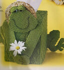 """"""" FRIENDLY FROGGY TISSUE BOX COVER'' ~*~PLASTIC  CANVAS PATTERN~*~"""