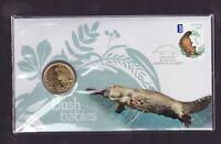 2013 Australian Bush Babies Series Platypus $1 Coin Stamp Set PNC FDC