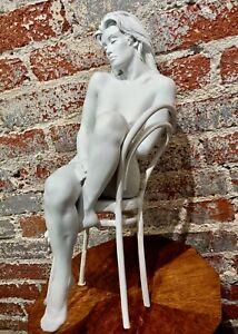 Bill Mack-Nude Female Seated in Solitude Maquette-Bronze Sculpture