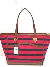 RALPH LAUREN Handbag *Beverley Tote*Red Navy Stripe Shoulder Tote $198 New