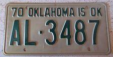 Oklahoma 1970 ALFALFA COUNTY License Plate HIGH QUALITY # AL-3487