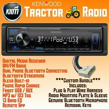 Kioti Tractor Plug Amp Play Radio Bundle Bluetooth Usb Aux Nx Rx Dk Ck Series Cab