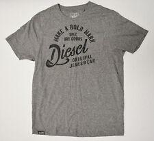 Diesel Men's Grey Designer Slim Fit 2XL Shirt New Retail $78