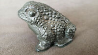 Pot metal frog. Marked Gestest (pregnancy test) 1950's Rare~ PHARMACEUTICAL