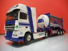 TEKNO 59082 DAF 105 XF SUPER SPACECAB WITH TANK CONTAINER MUTTI ITALIA