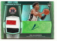 2019-20 OBSIDIAN RUI HACHIMURA GREEN ROOKIE PATCH AUTOGRAPH RPA #6/25 (WIZARDS)