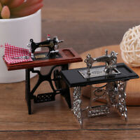 1:12 Dollhouse Mini Furniture Sewing Machine with Scissors for Doll House De YK