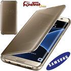 Clear View Cover Originale Per Samsung Galaxy S7 Edge G935F Custodia Slim Gold
