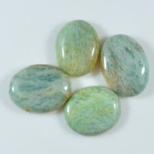 62.15 Ctw LOT Amazonite Oval Pendant Bead Cabochon Natural Gemstone Undrill