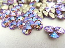 6 Violet Glacier Blue Swarovski Crystal Rivoli Stone 1122 39ss 8mm