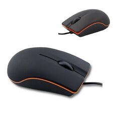 Non-Slip Matte Black 3D Wired USB Optical Mouse For PC Lenovo Laptop Notebook