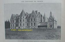 PUBLICITE CHATEAU DE KERFILY BARON DE CHARETTE 1909 AD