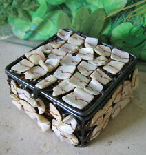 Rare! NEW Handmade *Sea-Shell* Pewter Metal Jewellery Trinket Box/Tin/Pot Lid