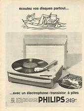 Publicité Advertising 1962  PHILIPS électrophone transistor à piles AG 4026 T
